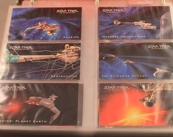 Vintage Star Trek Movies (1-6) Widescreen Complete Trading Card Sets, In Pages and a Binder, 1990's, Great Gift!