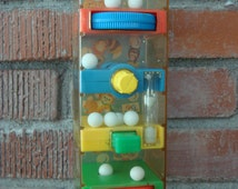 Vintage Fisher Price Tumble Tower Marble Toy, 1971 Marble Activity Game for Kids, Timer Built In, Made in USA, Great for Learning Dexterity~
