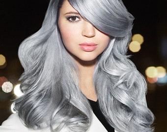 1B silvery grey human hair weave silver grey human hair  extensions grey human hair bundles grey human hair weft