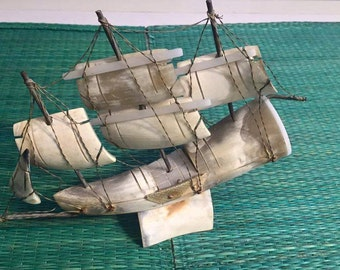 French Sail  Boat   Horn - kitsch country