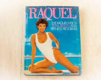 "RAQUEL WELCH ""Total Beauty"" (1984) Vintage Book, Retro Celebrity Fitness, Photography book, 80's Aerobics, 80's Lifestyle, Prop"