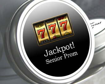 "12 Personalized Jackpot Lucky 7 Theme Mint Tin Prom Favors - Select the quantity you need below in the ""Pricing & Quantity"" option tab"