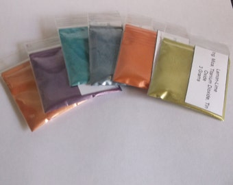 Natural Mica Cosmetic Grade Loose Powder Set of 6