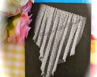 Vintage Knitting Pattern Copy Of 1930s Baby's Shawl 'Whisper'