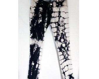 velour tie-dye black & Cream corduroy pants