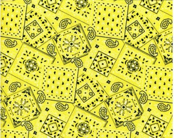 Bandana Fabric Yellow + FREE surprise applique