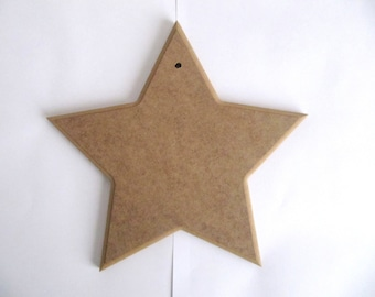 Unfinished Mosaic STAR  Base 20cmx 20cm, 1 cm Thick MDF Wood  for DIY