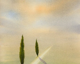 Stand Tall II, original watercolor painting 11x15