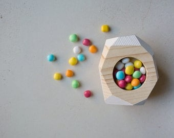 FOR SALE handmade wooden candy holder