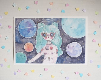 Space Girl - giclee print