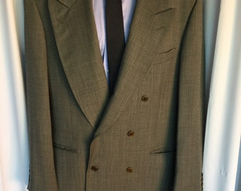 True vintage mens Italian double breasted suit
