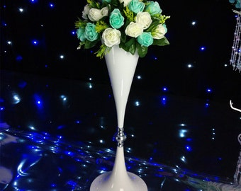 White Flower Vase Vessel Stand Wedding Decoration