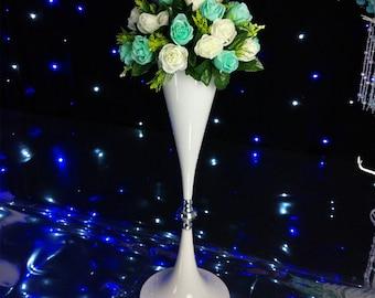 White Flower Vase Vessel Stand Wedding Decoration