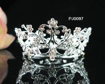 Special Silver Plated with yellowish paint Tiara ;Bride Wreath Small Crown,Wedding Bridal Bridesmaid Tiaras comb;Birthday cake crown#97s