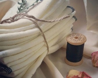 Bundle of Eight Straining Cloths for Herbal Medicine Making - infused oils, tinctures, syrups, Nut milk etc