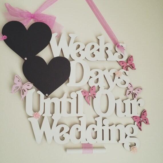 Wedding Countdown Checklist: Wedding Countdown Weeks Till Wedding Days By MySophiesparkles1