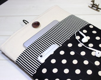 Laptop case, black and white, Mod laptop sleeve, Macbook Air sleeve, Pro Retina case, Macbook Pro sleeve, Macbook sleeve 13, Macbook case