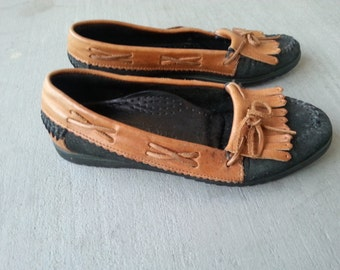 Vintage Maine Woods Women's Size 7/7.5 Moccasin Loafers