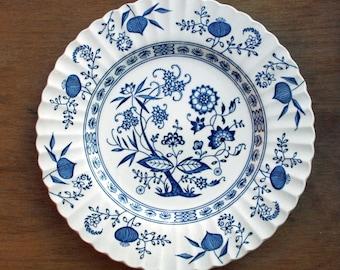J & G Meakin 10 inch Dinner Plate in the Blue Nordic pattern