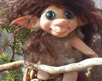 OOAK Art Miniature Fairy Troll