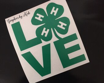 4H Love Decal