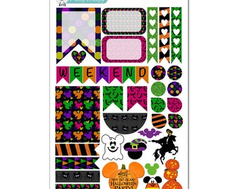 Mickey's Not So Scary Halloween Party (MNSSHP - WDW) Weekly Layout Sticker Sampler - Disney Planner Stickers