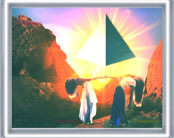 Goddess Pyramid Women Art Print 8 x 10 – Psychedelic Trippy Visionary Festival Artwork - Occult Witchcraft Wicca
