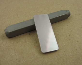"1/2"" x 1 1/4"" Aluminum Stamping Tags, 14 Ga Thick, 1100 Aluminum, 10 Pieces"
