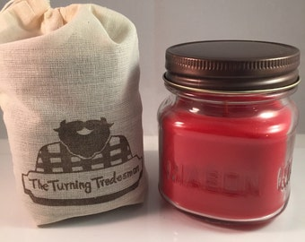 BBQ Candle - Barbecue Mason Jar Candle - Wax Candle - Soy Wax/Paraffin - Half-Pint Candle - Manly Candle - Burly Candle - 8 oz Candle