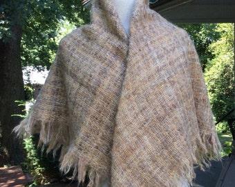Handmade wool shawl from Ireland.