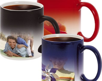Blue Custom photo mug > black Custom magic mug > Personalized red Coffee Mug > blue Color Changing Mugs > Personalized mug with Your Photo