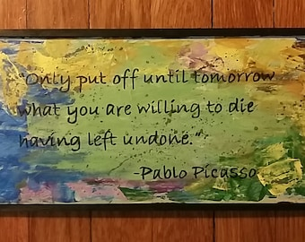 Pablo Picasso quote wall art