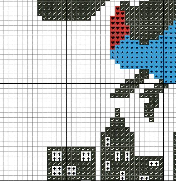 Buy 2 Get 1 Free Mary Poppins Cross Stitch Pattern