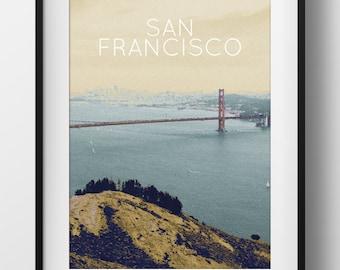 San Francisco Bay Poster 11x17 18x24 24x36