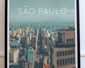 Brazil Sao Paulo Poster 11x17 18x24 24x36