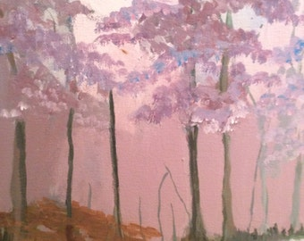 Original painting by Marie Wilson-Lago titled Autumn in Lavender