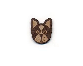 Boston Terrier Laser Cut Lapel Pin