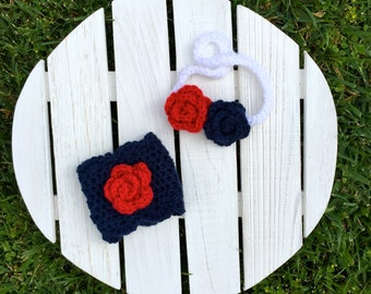Patriotic Headband and Coffee Cozy - Mommy and Me, 4th of July Headband, Fourth of July, baby headband, toddler headband, red white and blue