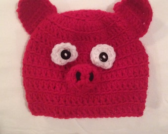 Crocheted Razorback Hat