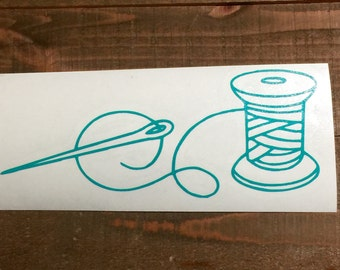 Needle and Thread Decal
