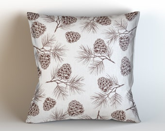Pine Cone Pillow Etsy