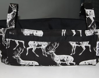 "Pram Caddy /Pram Organiser. Gorgeous ""Oh Dear!"" Fabric. Lovely Baby Shower Gift, New Baby Gift. Nappy Wallet."