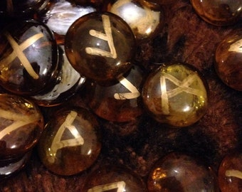 Fire Rune Stones, Viking, Witch, Pagan, Fortune Telling