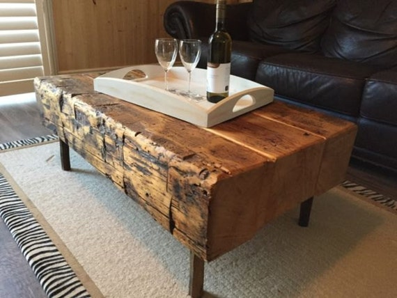 Items similar to handmade rustic wood coffee table sets