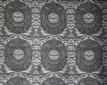 Jacquard No.2-Cotton Woven Yarn Dyed-Black Color-Garment supply-Handcraft material-Multi purpose supply-3Yards