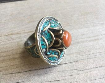 Nepali Flower Ring  Etsy. Crystal Crown Wedding Rings. Diamond Australian Engagement Rings. Ear Rings. Flawless Engagement Rings. Viking Rune Wedding Rings. Tapered Baguette Wedding Rings. Baylor Rings. Pearl Diamond Rings