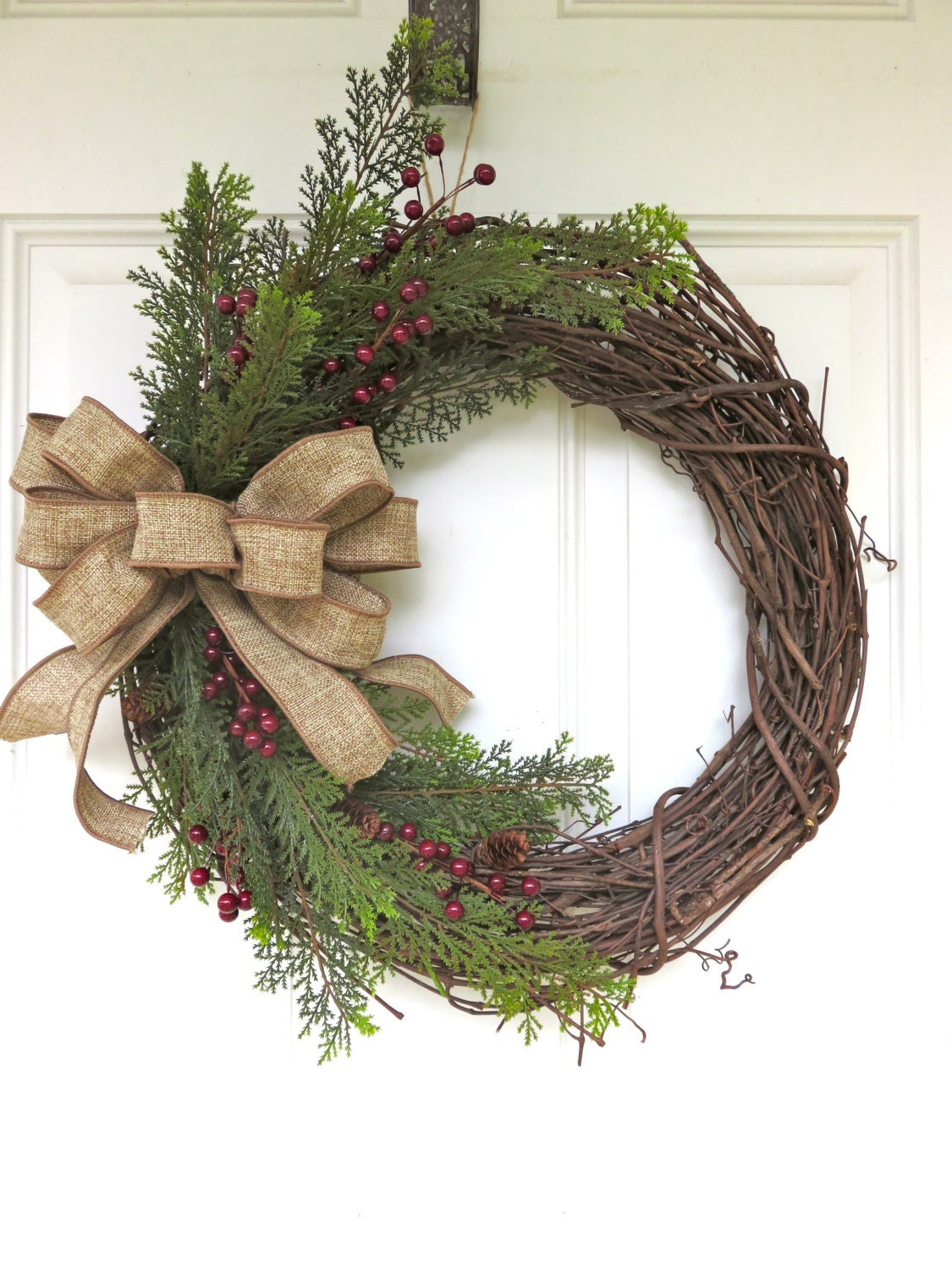 Wreaths For Front Door Holiday Wreath Greenery Wreath