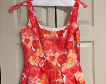 Floral Print Dress by Georgiou, size 10