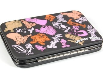 LOONEY TUNES PURSE Hard Case Bugs Bunny, Daffy Duck, Tweety, Sylvester Etc