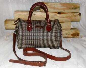 FREE SHIPPING - Polo Ralph Lauren Plaid Speedy Bag Doctor Bag Handbag Purse